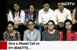 harvin academy students in live session in TV channel